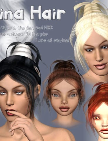 Gina Hair for V3, SP3, GIRL and HER