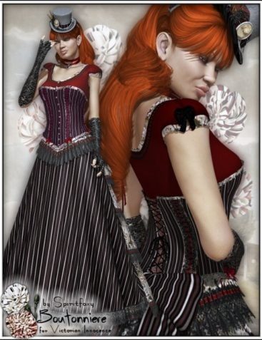 Boutonniere for Victorian Innocence - BUNDLE