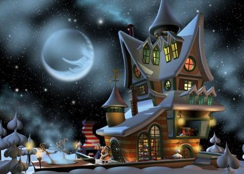 Toon Santa Crib