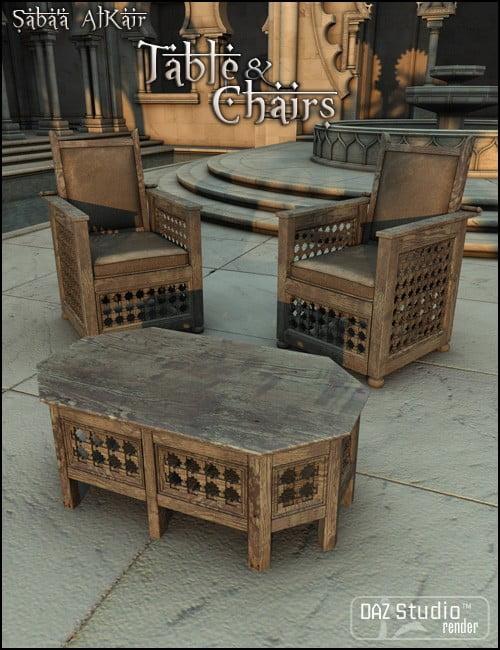 Saba'a AlKair Table and Chairs