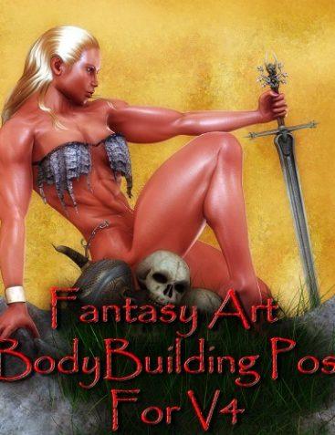 Fantasy Art and Bodybuilding Poses for V4