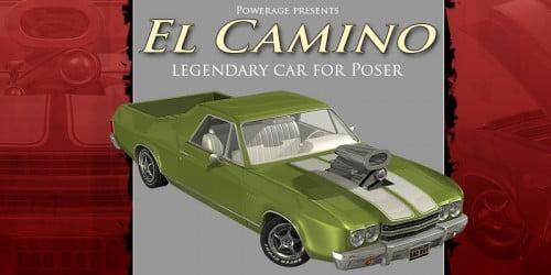 El Camino car for Poser