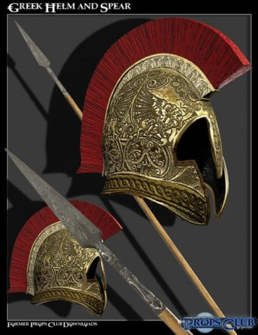 Props Pack - Greek Helm and Spear
