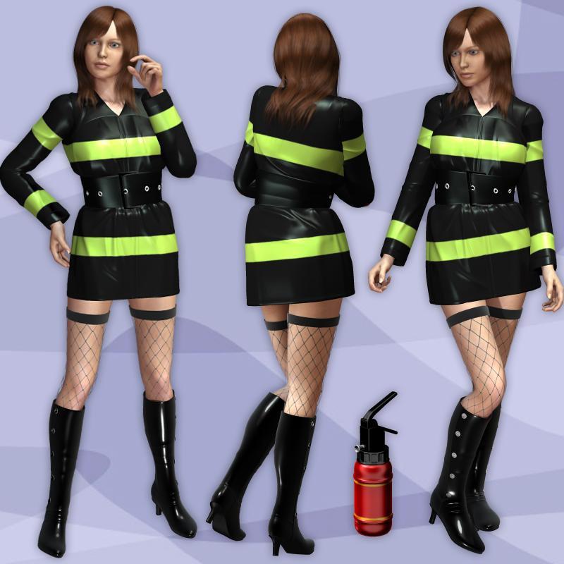 Fire Fighter Costume for G2 (Poser)