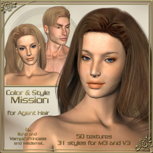 Color and Style Mission - Real hair and styles for Agent Hair