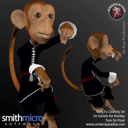 Kung Fu Clothing for Darwin Toon Monkey