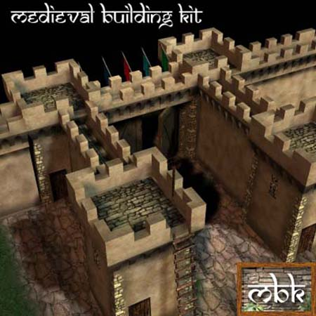 Medieval Building Kit - City and Garden Walls Kit