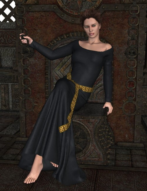 Maiden Fair Dynamic Gown for Poser