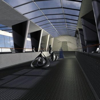 Modern Exhibition Hall for Poser