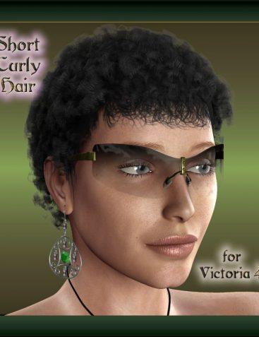 V4 Short Curly Hair