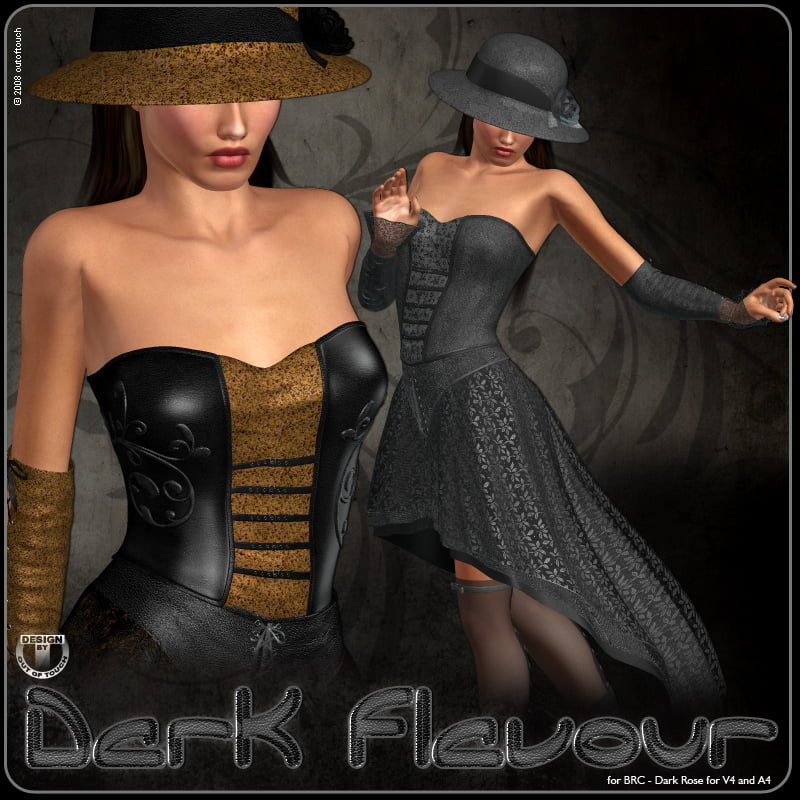 °Dark Flavour° for BRC - Dark Rose for V4 and A4