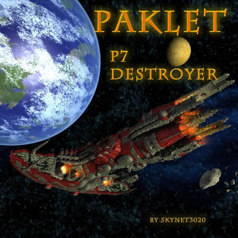 Paklet P7 Destroyer OBJ format