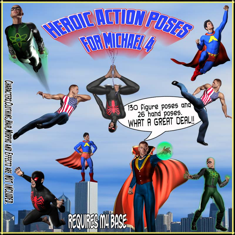 Heroic Action Poses For Michael 4