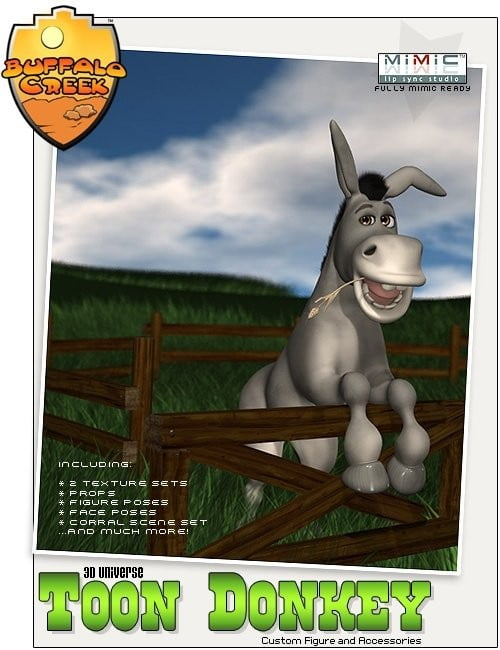 3D Universe Toon Donkey