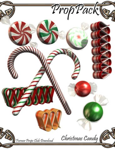 Props Pack - XMas Candy