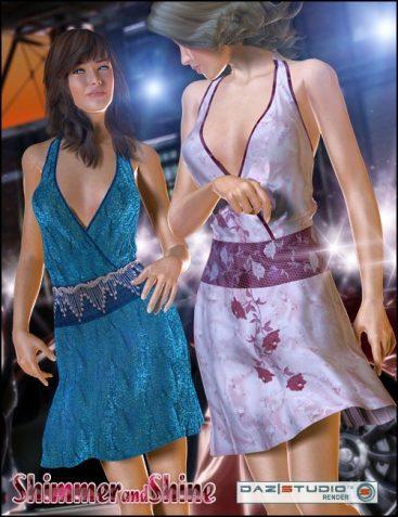 Shimmer N Shine for V4's Evening Dress