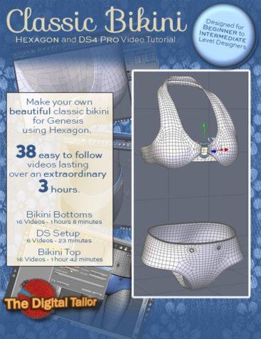 Classic Bikini (Hexagon and DAZ Studio 4 Pro Video Tutorial)