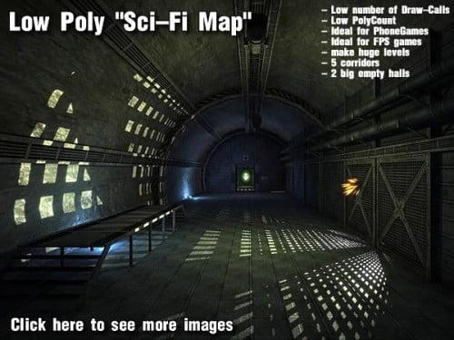 Low Poly 'Sci-Fi Map' by DEXSOFT-GAMES