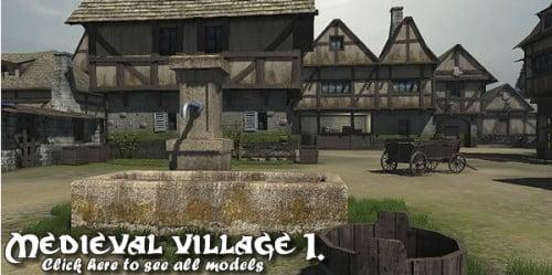 Medieval Village 1. model pack