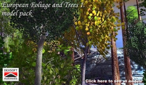 European Foliage and Trees 1. model pack by Martin Teichmann
