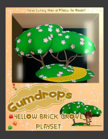 Gumdrops Playset: Yellow Brick Grove