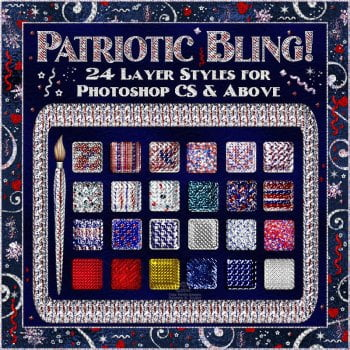 Bling! Patriotic Layer Styles for Photoshop CS and Up