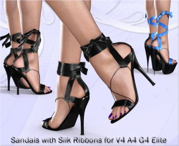 Sandals with Silk Ribbons for V4 A4 G4 Elite