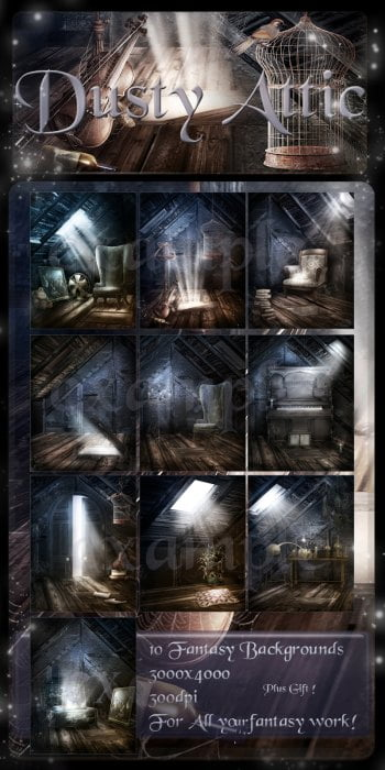 Dusty Attic Backgrounds