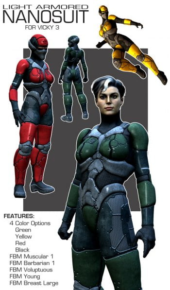 Light Armored Nanosuit for Vicky 3