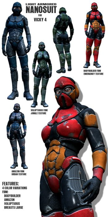 Light Armored Nano Suit for Vicky 4