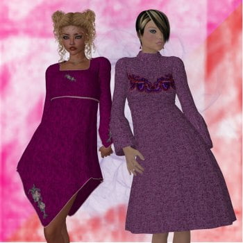Maria Dress and Carla Dress for V4-S4-Elite-A4-G4-Alice