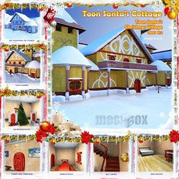 Toon Santa's Christmas Cottage