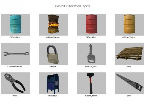 42 Assorted Industrial Objects