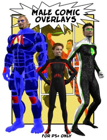 Male Comic Overlays
