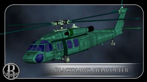 Blackhawk Helicopter (Poser & Vue)