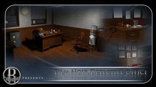 Film Noir Detective Office (Poser & Vue)