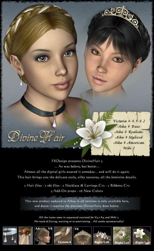 DivineHair III for V4+A4+Miki2