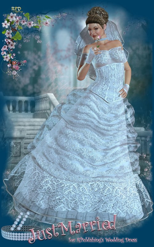 Just Married for Wedding Dress