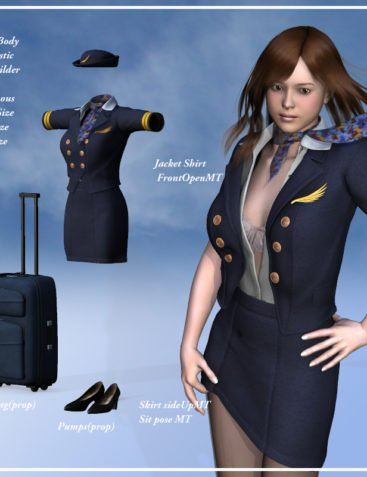 Flight attendant uniform for V4A4