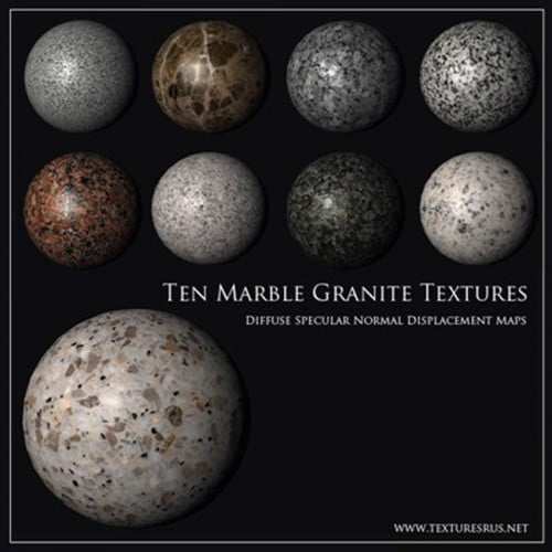 Seamless Granite Marble Textures *3D*