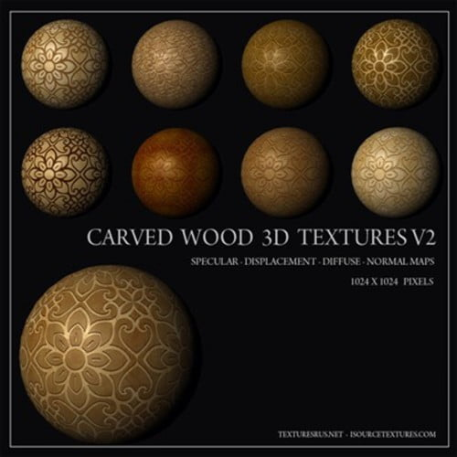 Carved Wood 3D Textures Volume Two