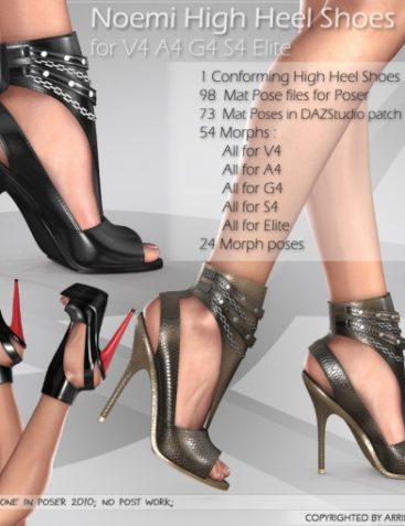 Noemi High Heel Shoes for V4 A4 G4 S4 Elite