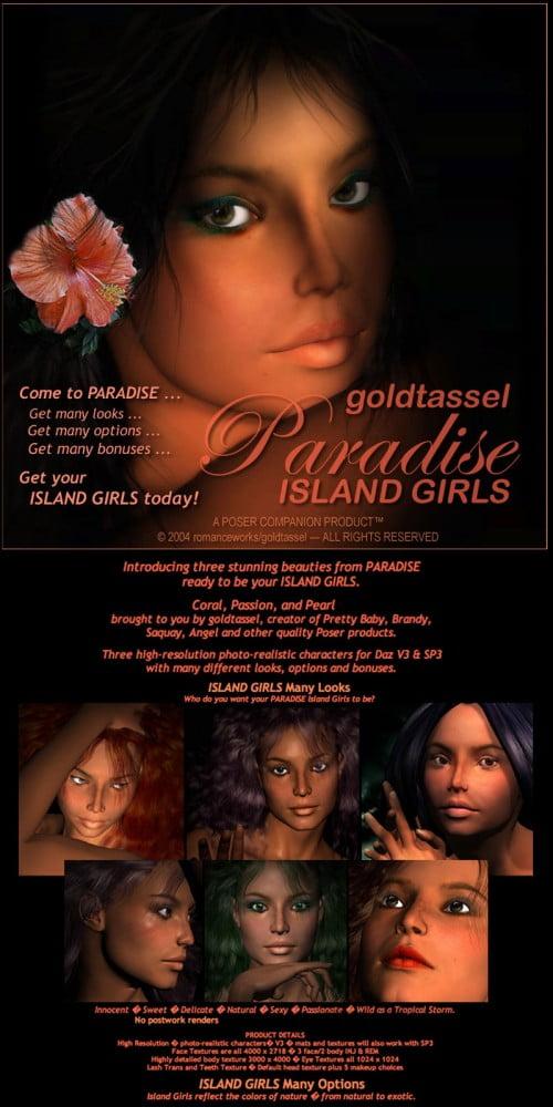 goldtassel PARADISE Island Girls