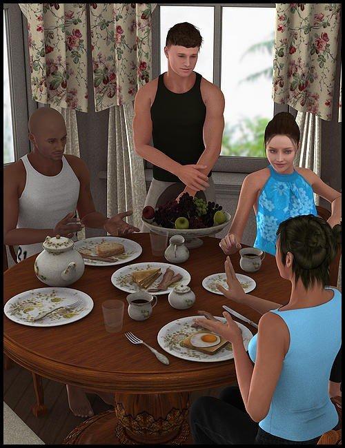 Great Room Breakfast Nook Poses