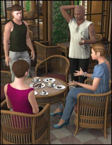 Veranda Cafe Poses