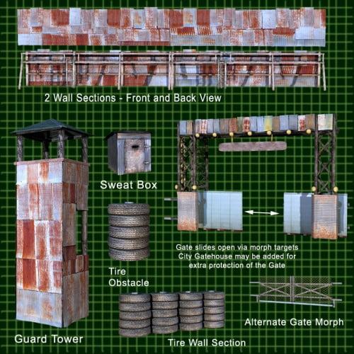 FORT APOCALYPSE SET 1- Set Design Kit for a Darker Future