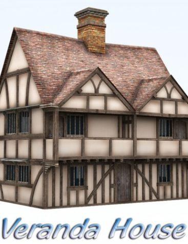 Veranda House for Poser 4+