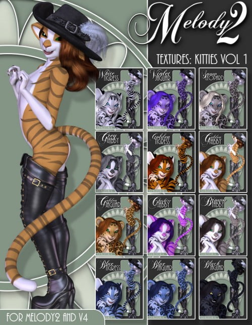 Textures: Kitties Vol 1 for Melody2