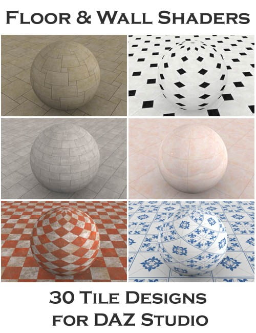 Floor and Wall Shaders for DAZ Studio