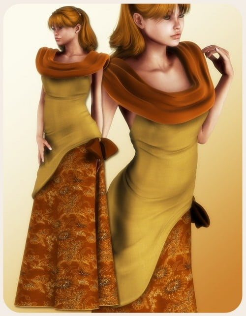 Autumn Ball Dress for V4